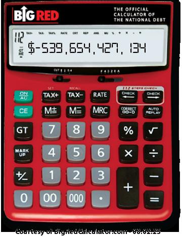 BigRedCalculator: Canadian National Debt